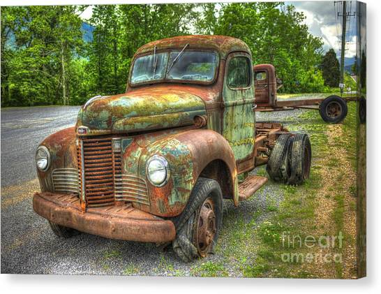 Beauty And The Best 1947 International Harvester Kb 5 Truck Canvas Print