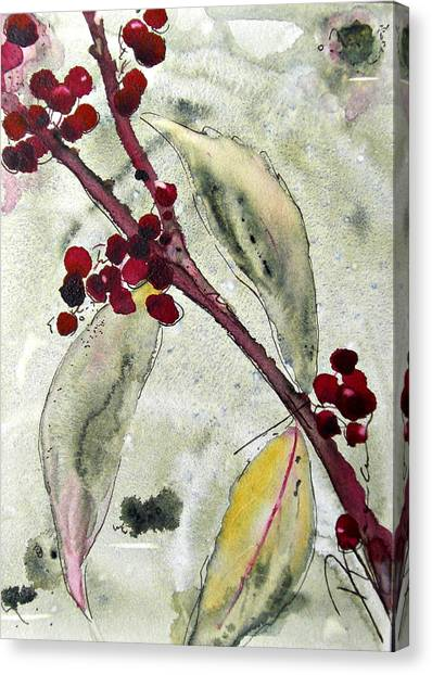 Beauty Berry Branch Canvas Print