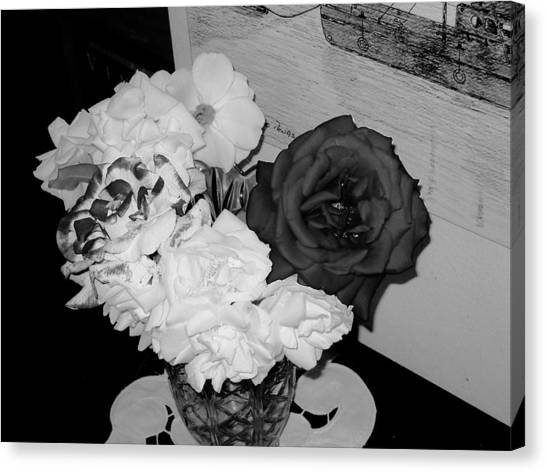 ..beauty In Black And White.... Canvas Print by Adolfo hector Penas alvarado