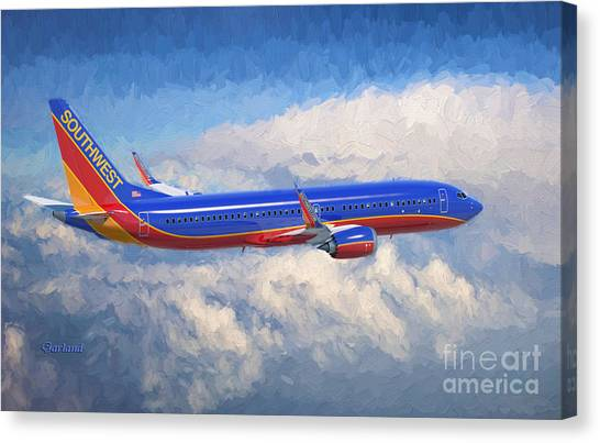 Airplanes Canvas Print - Beauty In Flight by Garland Johnson