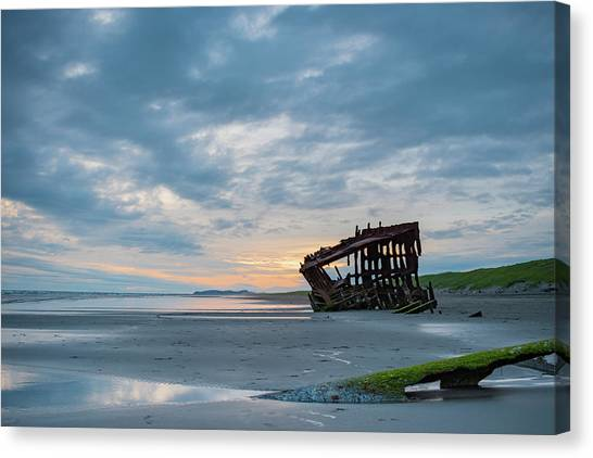 Peter Iredale Canvas Print - Beauty In The Wreckage by Cade Brown
