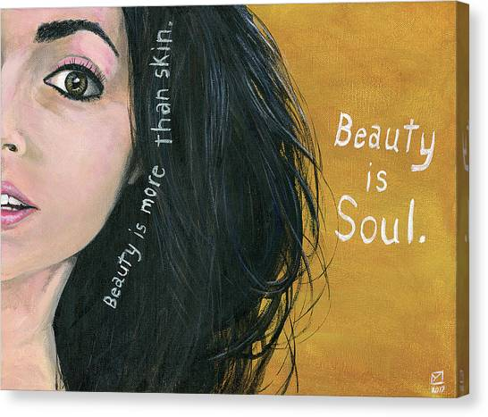 Beauty Is Soul Canvas Print