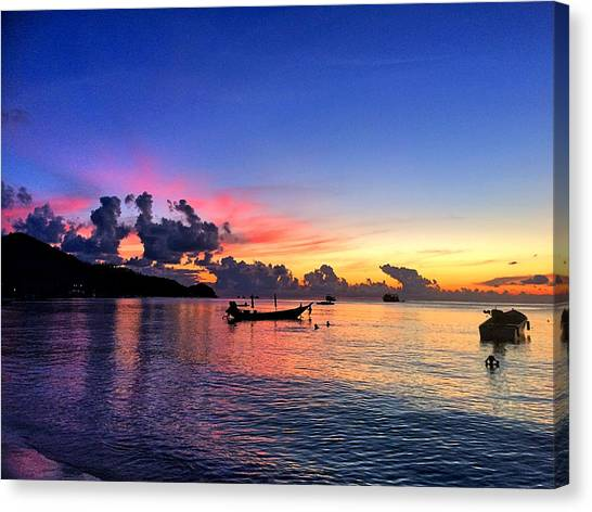 Sunset Horizon Canvas Print - Beauty by Julita Pietrzyk