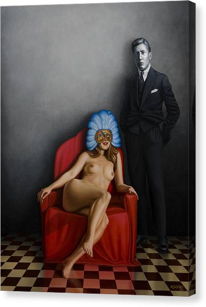 Nudes Canvas Print - Beauty Of The Carnival by Horacio Cardozo