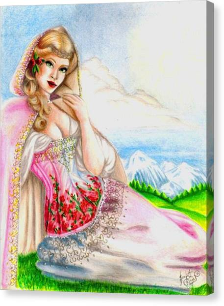 Beauty Of The View Canvas Print by Scarlett Royal