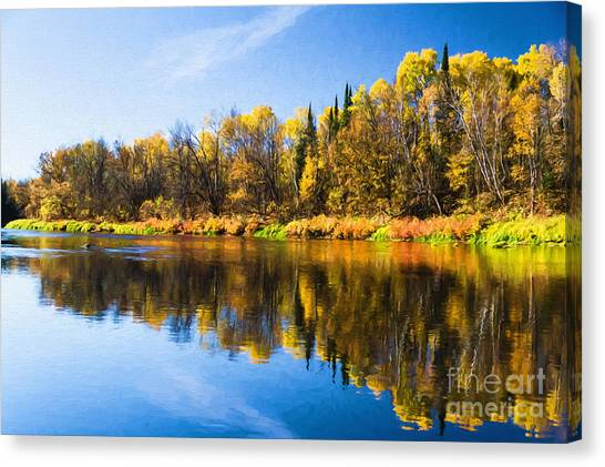 Beauty On The Big Fork Canvas Print