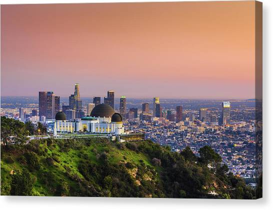 Beauty On The Hill Canvas Print