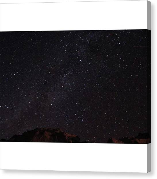 Starry Night Canvas Print - Because The Weather Is So Nice Today, I by Riya Sony