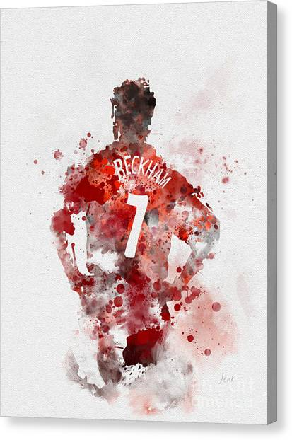 David Beckham Canvas Print - Becks by Rebecca Jenkins
