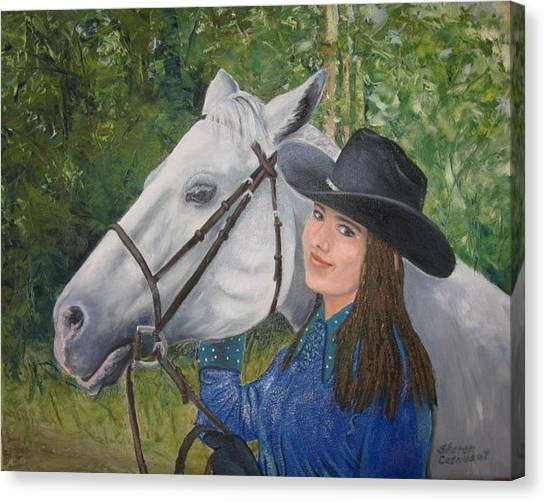 Becky And Jazz Canvas Print