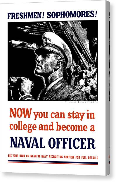 Aircraft Canvas Print - Become A Naval Officer by War Is Hell Store