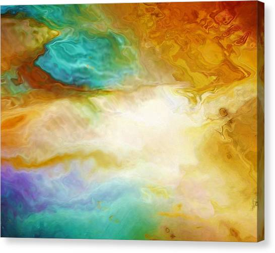 Becoming - Abstract Art - Triptych 2 Of 3 Canvas Print
