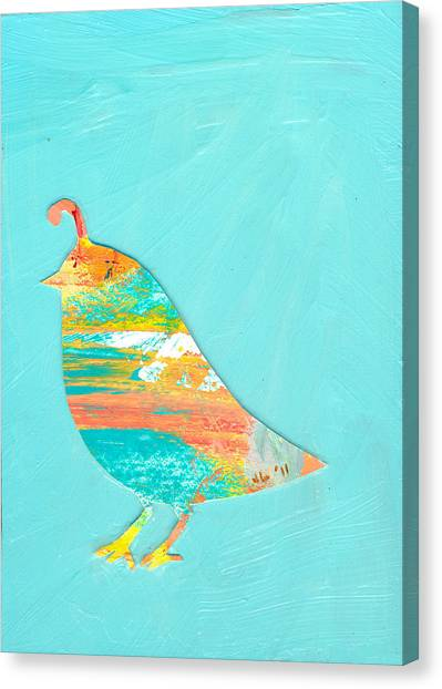Nature Abstract Canvas Print - Becoming Quail by Jennifer Lommers