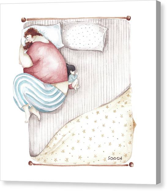Fun Canvas Print - Bed. King Size. by Soosh