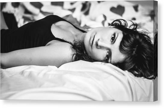 Bed Portrait Canvas Print