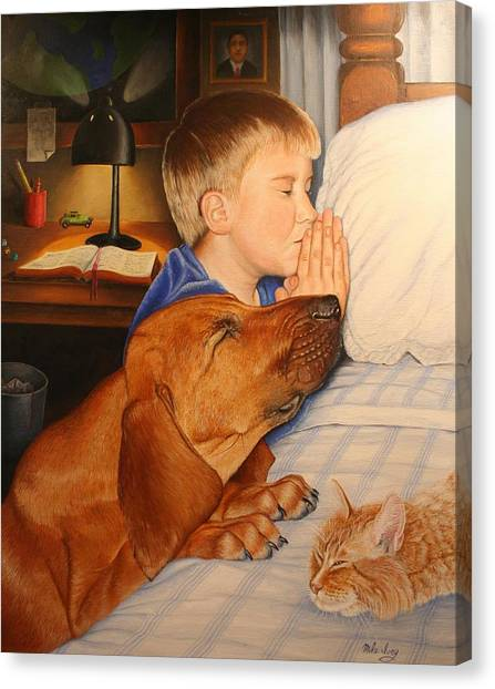 Bed Time Prayers Canvas Print