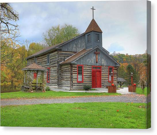 Bedford Village Church Canvas Print
