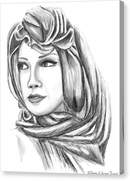 Bedouin Woman Canvas Print
