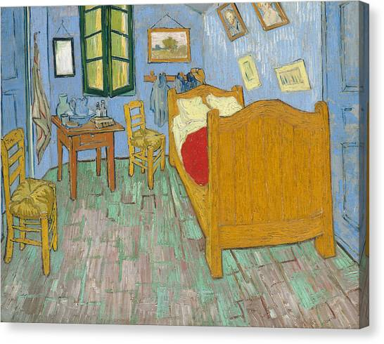 Canvas Print featuring the painting Bedroom At Arles by Van Gogh