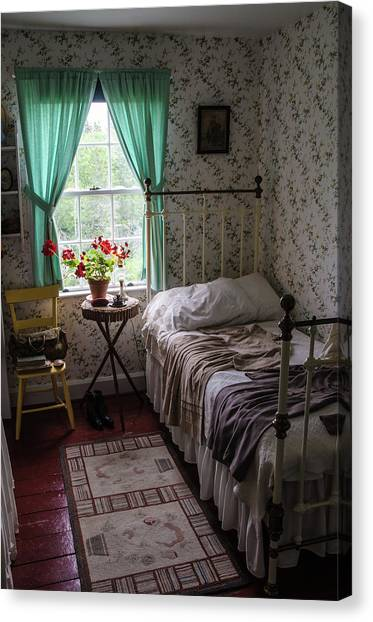 Canvas Print featuring the photograph Bedroom At Green Gables by Rob Huntley