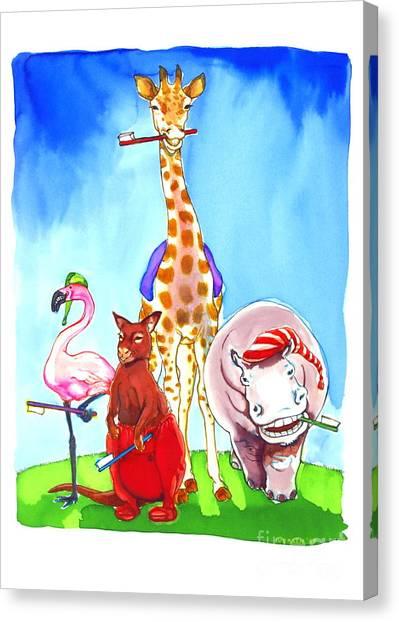 Bedtime Animals Canvas Print by Jill Iversen