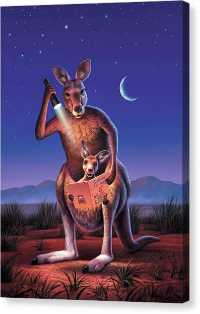Ears Canvas Print - Bedtime For Joey by Jerry LoFaro