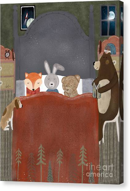 Rabbit Canvas Print - Bedtime Stories by Bri Buckley