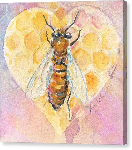 Bee Heart Canvas Print