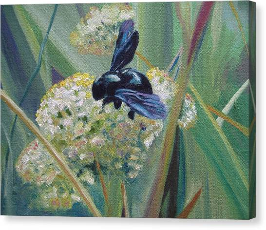 Bee In Provence Canvas Print