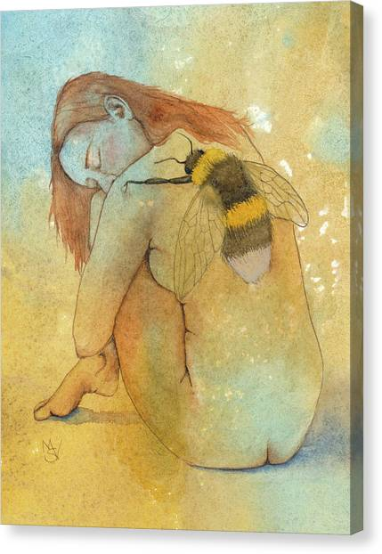 Bee Loved Canvas Print