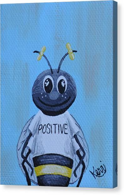 Bee Positive School Picture Canvas Print