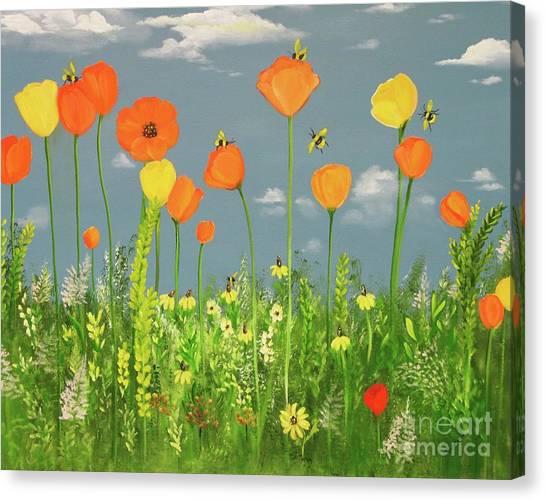 Bee-utiful Day Canvas Print