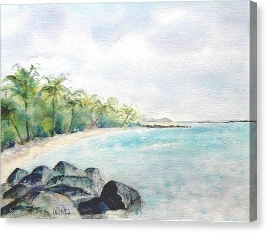 Beef Island Lagoon Canvas Print