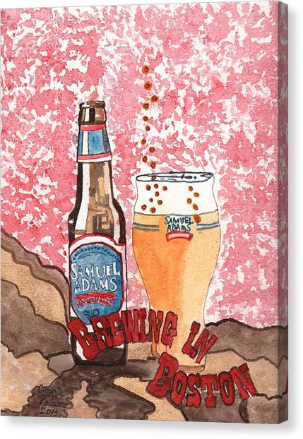 Beer From A Bottle No.6 Canvas Print