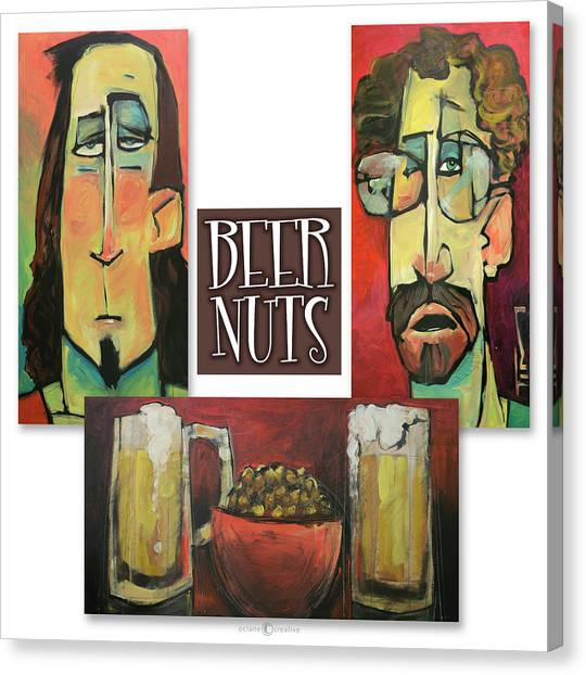 Pint Glass Canvas Print - Beer Nuts by Tim Nyberg