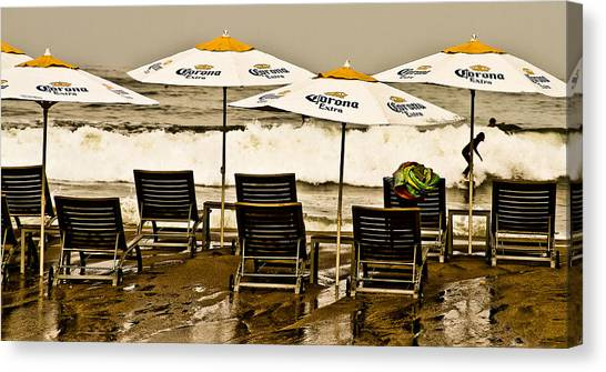 Beer Surf Canvas Print