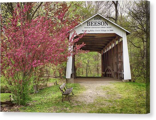 Beeson Covered Bridge Canvas Print