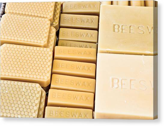 Selection Canvas Print - Beeswax  by Tom Gowanlock