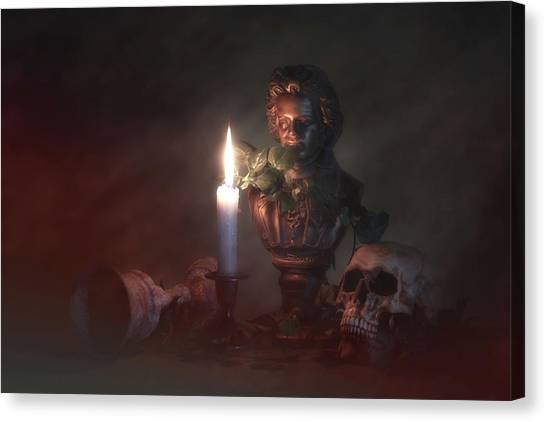 Murky Canvas Print - Beethoven By Candlelight by Tom Mc Nemar
