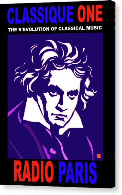 Beethoven Classique One Radio Paris  Canvas Print