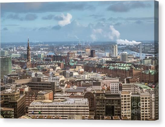 Befor A Snow Storm Hamburg Canvas Print