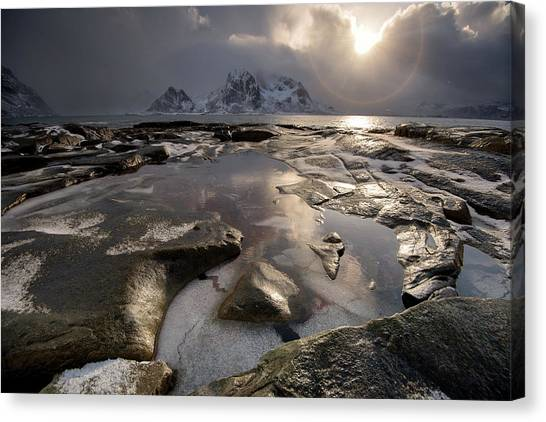 Hailstorms Canvas Print - Before Storm, Lofoten by Dragos Ioneanu