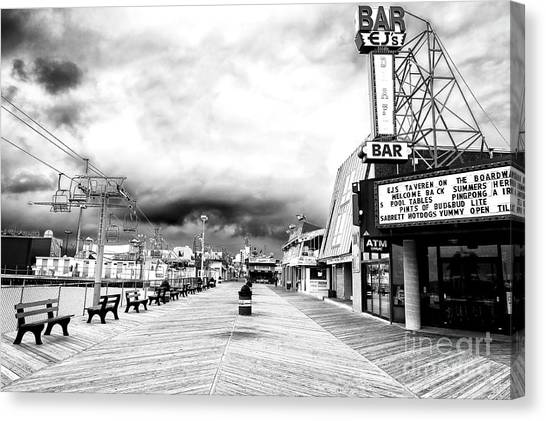 Before The Crowds At Seaside Heights Canvas Print