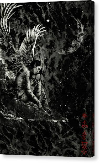 Contemplates Canvas Print - Before The Dawn by Cambion Art