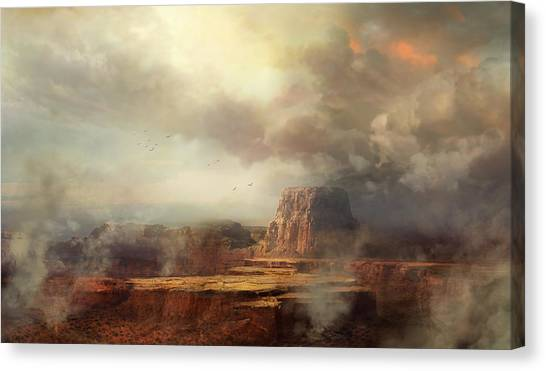 Southwest Canvas Print - Before The Rain by Philip Straub