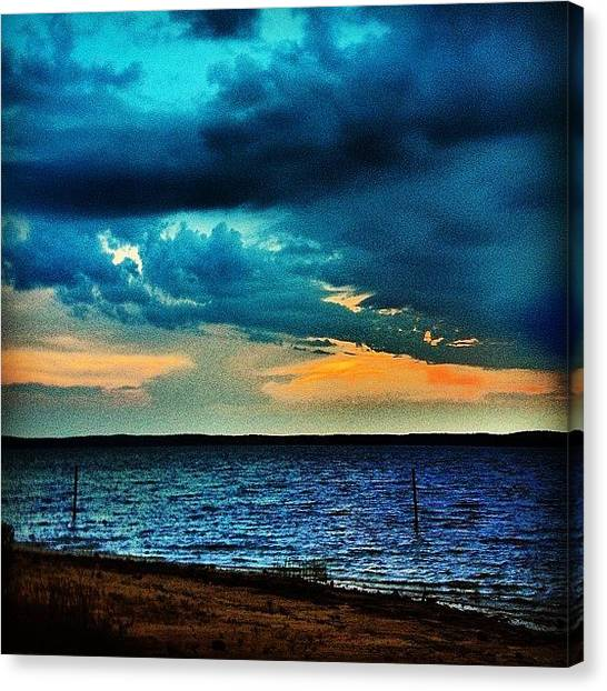 Beach Sunsets Canvas Print - Before The Storm by Katie Williams