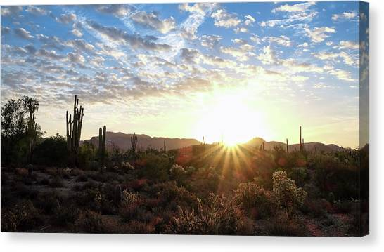 Beginning A New Day Canvas Print