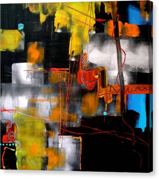 Behind An Autumn Scene Canvas Print by Jane Ferguson