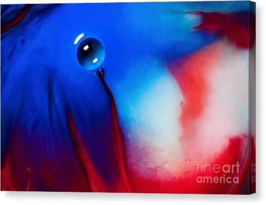Behind Blue Eye Canvas Print