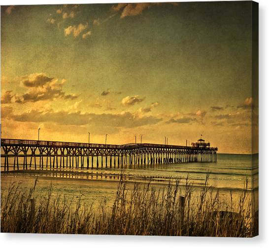 Behind Cherry Grove Pier  Canvas Print